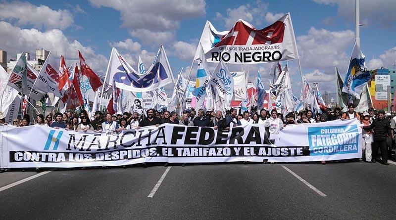 la marcha federal en capital